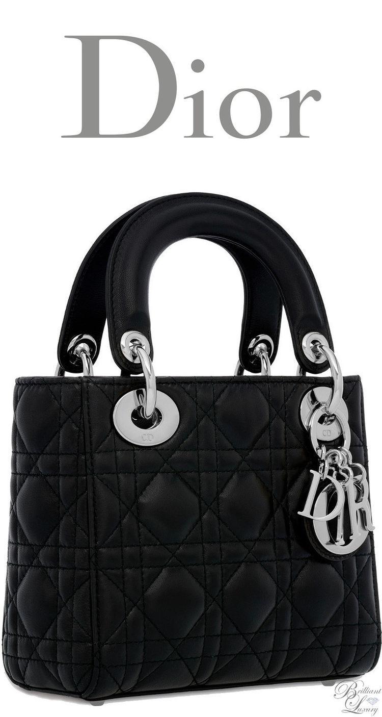 e31d06d6a421 Brilliant Luxury   Dior Classic 2016 ~ Mini Lady Dior bag in black lambskin