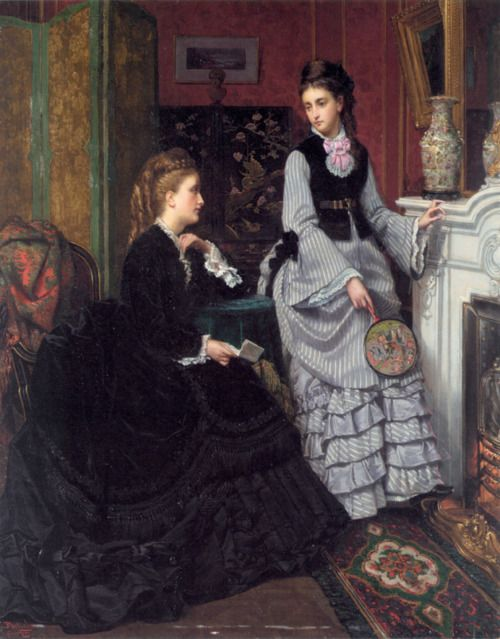 A Moment by the Fire by Jan Portielje, ca 1870's