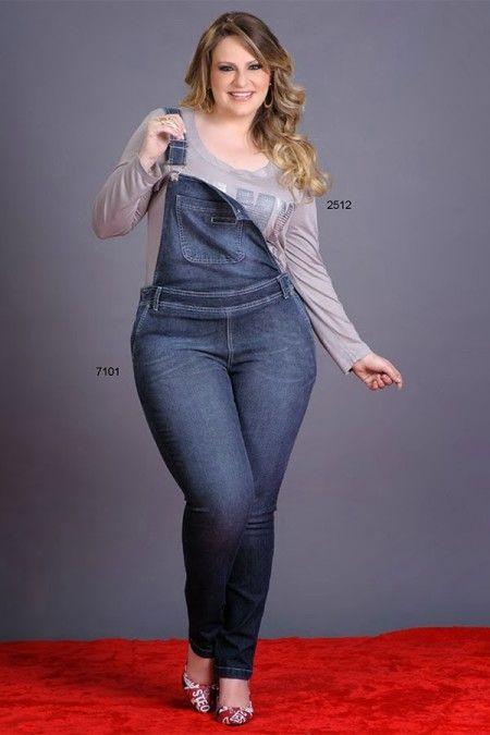853774ee8a macacao jeans plus size de gordinha