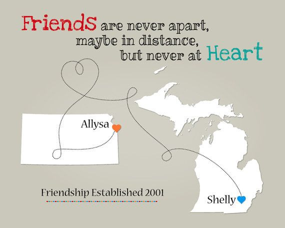 Best Friends Quote Present For Long Distance Friendship B
