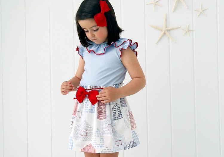 a91cfbdad7 Patrón de falda y blusa. Conjunto Meer