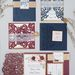 Classic navy and burgundy wedding invitation ideas for new couples