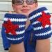 "Free Crochet pattern - Captain America Gloves. Guess if Im gonna do Iron Man, gotta do ""Capn Merica,"" as Emmett calls him :)"