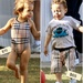 Jennifer Lopezs twins Max and Emme dressed in matching Burberry bathing suits.
