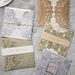 Gorgeous glitter laser cut wedding invitations for luxury wedding ideas
