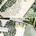 Unique velvet greenery leaves wedding invitations for backyard wedding ideas