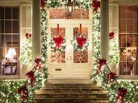 On pinterest front doors christmas front doors and christmas door