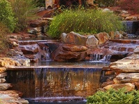 Welcome to Dream Yard's Pinterest board for waterfall ideas. For those of you building waterfall features in your backyard, this is a great place to find some cool waterfall designs. Thanks for stopping by and hopefully you get a chance to check out some more landscaping pictures on our other boards.