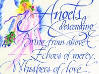 Angels descending, bring from above, echoes of mercy, whispers of love.