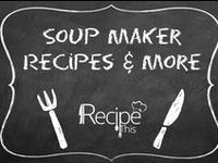 Soup Maker Recipes / #SoupMakerRecipes & More = the place to come for all your #soupmakermachinerecipes and to read and pin more about the amazing soup machine!