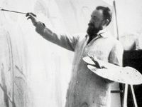 Glimpsing creative spaces of great artists...how did they work? Vintage photos of artists in their worlds. Cool contemporary studios & art stuff.