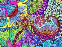 Zentangle, doodles, lineweaving