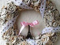 Meska shop ✿ / Handmade crafts such as wreaths, door hangers and rings.   #wreath  #diy #meska