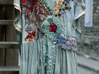 I've always loved and worn off-beat styles of clothing - ethnic, hippy, Bohemian, anything unusual. When a woman gets to a certain age, and I've reached that place, I'll wear anything I want to wear! The clothes on this board make my heart sing!