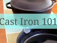 Cast iron cooking.
