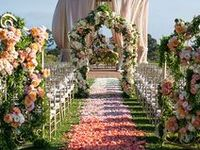 Decorate your aisle and altar in a way that reflects your unique personality and style as a couple - after all, the ceremony is the most important part.