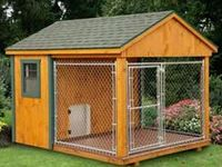 17 best images about heated dog kennels on pinterest for Dog kennel shed combo plans
