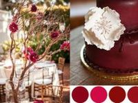 Red, Burgundy, Cranberry & Maroon Colored Weddings