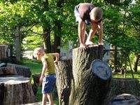 Ideas & resources for creating outdoor play spaces for free, imaginative play and connecting with nature.