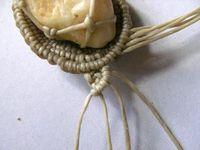 craft - macramé wrapping