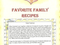 Recipe Scrapbook Ideas