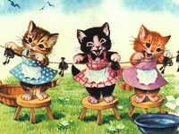 """Vintage Cat Images ---- **NOTE: For Valentine's Day-related Vintage Cats, please see my """"Valentine's Day"""" board. For images of Vintage Black Cats, please see my """"Black Cats are Love"""" board."""