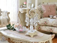 Love pinks and roses.....sage greens,lavenders and pale yellow. Love shopping thrift stores for vintage finds!!