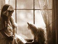 Katze und Kinder