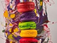 Macarons, une explosion de couleurs