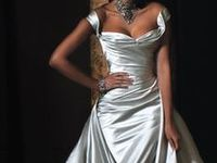 Silver, Gray, Pale Blue wedding dresses, ethereal gowns with sleeves, straps.