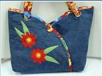 denim , jeans == purses and bags