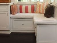 """Built-in """"other room"""" cabinetry, window seats, bed nooks & banquets..."""