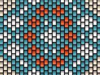 Peyote and ladder stitch patterns