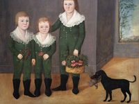 Portraits of men, women, children and families done by folk artist mostly in the 19th century