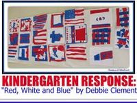 "This collection is to give ideas and support to those who use my picture book, ""Red, White and Blue"" which is based on the text of my song I wrote by the same name, immediately after September 11th. The book won a national INDIE Award of Excellence!! I made the illustrations from fabric as small representational quilts. Starting with flag images and ending with fireworks -- this is a picture book to celebrate all things Americana + community helpers/fireman + 911 ideas."