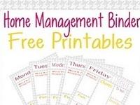 Household Planner/Organizing Binder Printables
