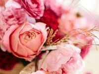 Pretty in pink! Flowers, dresses, jewelry, shoes and everything pink.
