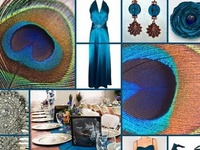 Ideas for incorporating peacock feathers into wedding, shower, and party decor.
