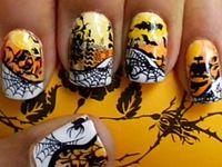a Nail Art HALLOWEEN