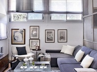 Collection of great ideas for small living spaces and studio apartments.