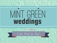 Cool, fresh ideas for decorating your wedding in this trendiest of colors: mint green!