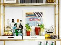 Organizing and styling your home bar.