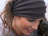 Knit or crocheted headgear