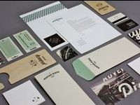A collection of logos and various branded collateral pieces