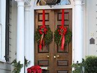 Christmas welcome on pinterest christmas door front doors and