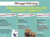 Miraggi a #SalTo13 / Libri, autori, editori e incontri Miraggi al Salone Internazionale del Libro di Torino 2013