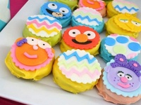Sesame Street party ideas for 1st birthdays  --  Elmo cakes, decorations, Cookie Monster party foods and favors. See more party ideas at CatchMyParty.com.