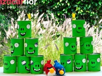 Angry Birds party ideas for boy birthdays  --  Angry Birds cakes, decorations, party foods and favors. See more party ideas at CatchMyParty.com.