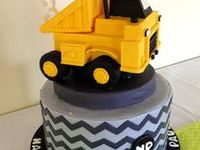Construction party ideas for a boy birthday -- Construction cakes, decorations, party foods and favors. See more party ideas at CatchMyParty.com.