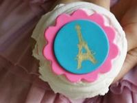 French Parisian party ideas for a girl birthday -- Paris cakes, decorations, French party foods and favors. See more party ideas at CatchMyParty.com.